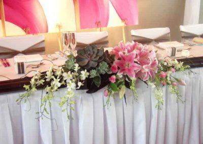 allestimento tavola con fiori per matrimonio