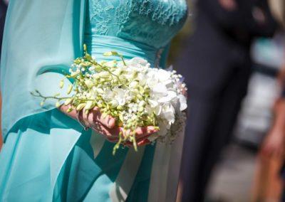 Mazzo di fiori bianco per matrimonio sposa