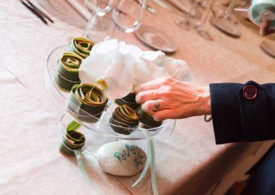 Composizione floreale con calle per matrimonio