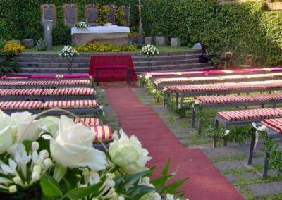 matrimonio allestimento all'aperto