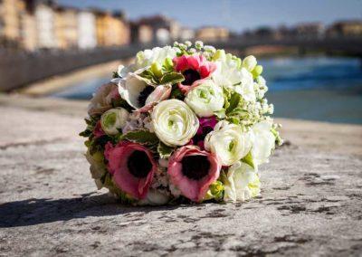 Bouquet da sposa fiore all'occhiello pisa