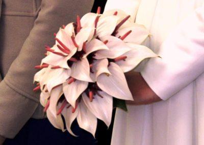 Bouquet bianco da sposa