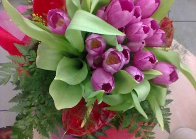 Bouquet compleanno realizzato nel negozio del fiore all'Occhiello