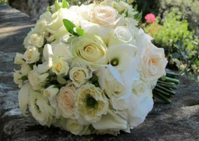 Bouquet sposa bianco e rosa antico